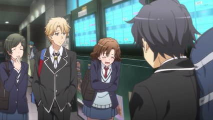 The first time Orimoto Kaori (折本 かおり) & Nakasomething look down on Hikigaya Hachiman (比企谷 八幡) during the date group. (Yahari Ore no Seishun Love Comedy wa Machigatteiru. Yahari Ore no Seishun Love Come wa Machigatteiru. Yahari Ore no Seishun Rabukome wa Machigatte Iru. Oregairu My Youth Romantic Comedy Is Wrong, as I Expected. My Teen Romantic Comedy SNAFU Yahari Ore no Seishun Love Comedy wa Machigatteiru. Zoku Yahari Ore no Seishun Love Come wa Machigatteiru. Zoku Oregairu Zoku My Teen Romantic Comedy SNAFU TOO! やはり俺の青春ラブコメはまちがっている。 やはり俺の青春ラブコメはまちがっている。続 俺ガイル 果然我的青春戀愛喜劇搞錯了。 果然我的青春戀愛喜劇搞錯了。續 ep 4)