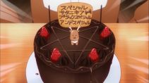 Someone who is related to magic would made this cake. (Gabriel Dropout ガヴリールドロップアウト 珈百璃的堕落 anime ep9)