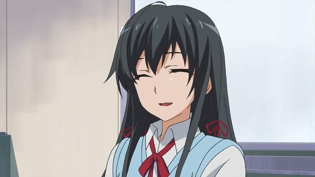 Yukinoshita Yukino (雪ノ下 雪乃) is so tired since she laughed too much. (Yahari Ore no Seishun Love Comedy wa Machigatteiru. Yahari Ore no Seishun Love Come wa Machigatteiru. Yahari Ore no Seishun Rabukome wa Machigatte Iru. Oregairu My Youth Romantic Comedy Is Wrong, as I Expected. My Teen Romantic Comedy SNAFU やはり俺の青春ラブコメはまちがっている。 俺ガイル 果然我的青春戀愛喜劇搞錯了。 anime ep 11)