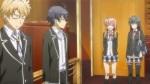 Hikigaya Hachiman (比企谷 八幡) Hayama Hayato (葉山 隼人) Yukinoshita Yukino (雪ノ下 雪乃) Yuigahama Yui (由比ヶ浜 結衣) (Yahari Ore no Seishun Love Comedy wa Machigatteiru. Zoku Anime ep4)