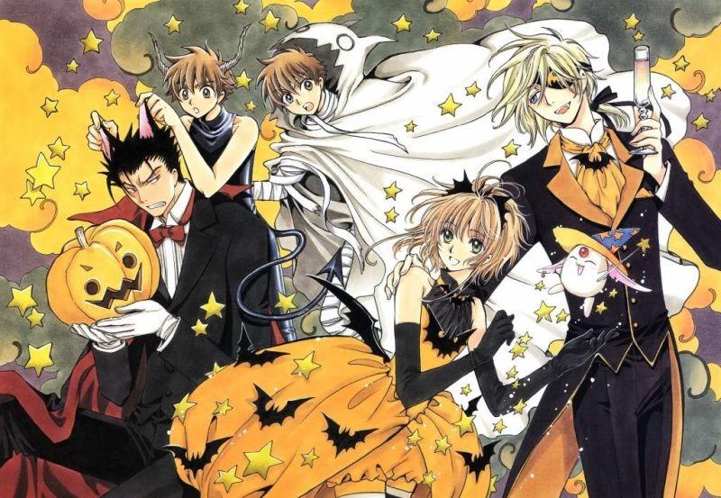 Syaoran Li (小狼) Sakura (サクラ) Kurogane (黒鋼) Fai D. Flowright (ファイ・D・フローライト) Mokona Modoki (モコナ=モドキ) with Halloween costumes. (Tsubasa: Reservoir Chronicle ツバサ RESERVoir CHRoNiCLE ツバサ・クロニクル 츠바사 크로니클 츠바사 RESERVoir CHRoNiCLE Chronicle of the Wings Huyền Thoại Đôi Cánh Tsubasa Chronicle Tsubasa RC)