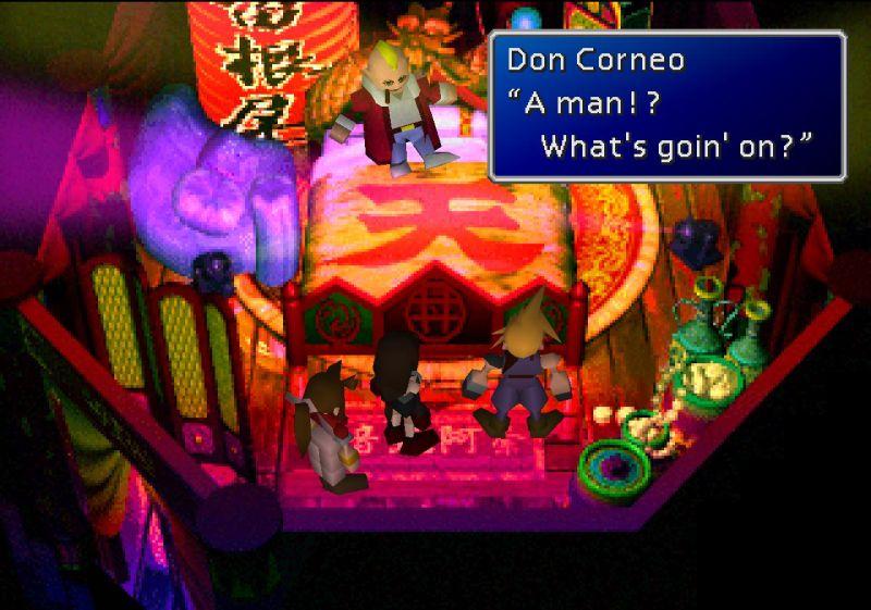 """In Remake, """"this Don Corneo"""" is still falling in love with Cloud. (Final Fantasy VII Final Fantasy 7 FF7 FFVII ファイナルファンタジー7 ファイナルファンタジーVII ไฟนอลแฟนตาซี VII ไฟนอลแฟนตาซี 7 Sector 6 (六番街) Slum, Sector 6 Undercity, Wall Market (ウォールマーケット) Aeris Gainsborough (エアリス ゲインズブール) Tifa Lockhart (ティファ ロックハート) Cloud Strife (クラウド ストライフ) Don Corneo (ドン コルネオ))"""